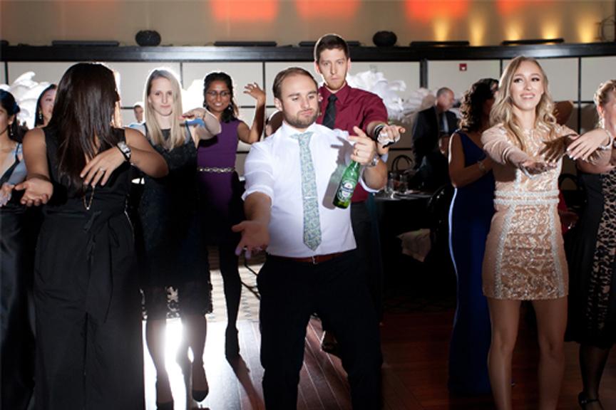 dance party wedding reception at Eglinton Grand