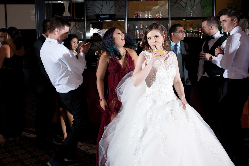bride dancing wedding reception at Eglinton Grand