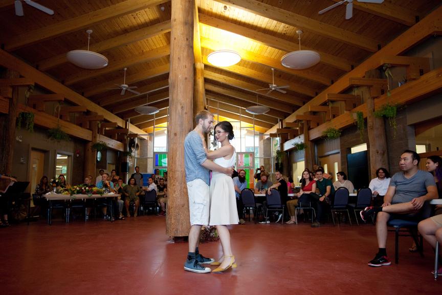 couple first dance at Ganaraska Forest Centre
