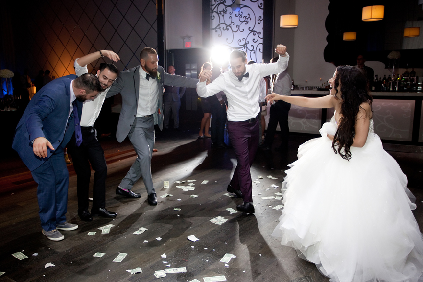 group dancing Greek and Albanian wedding reception at Grand Luxe Event Boutique