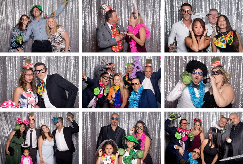 Photo booth fun at Grand Luxe Event Boutique