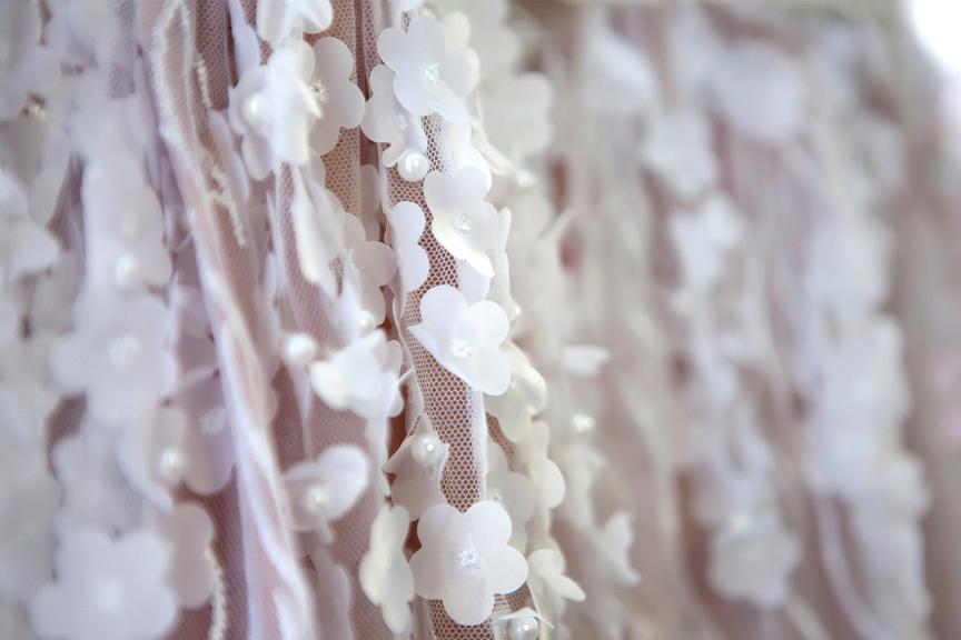 bride prep lace dress