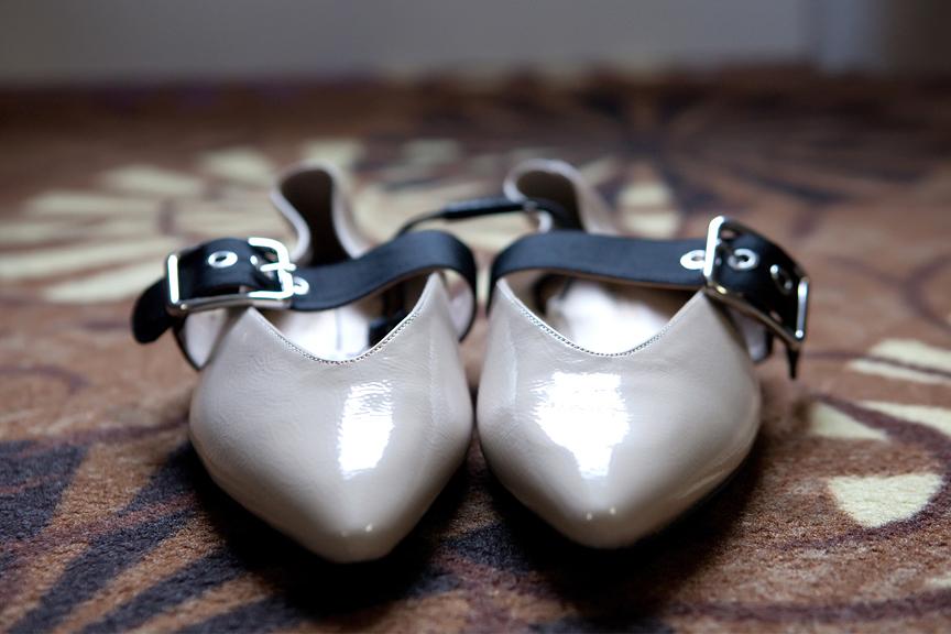bride prep wedding shoes