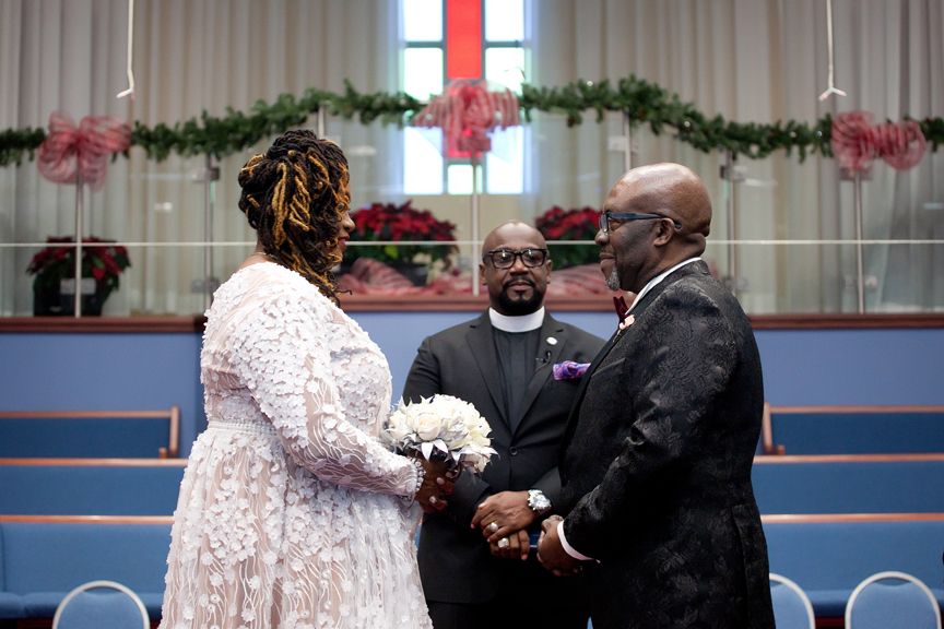 couple wedding ceremony at Praise Cathedral Worship Centre