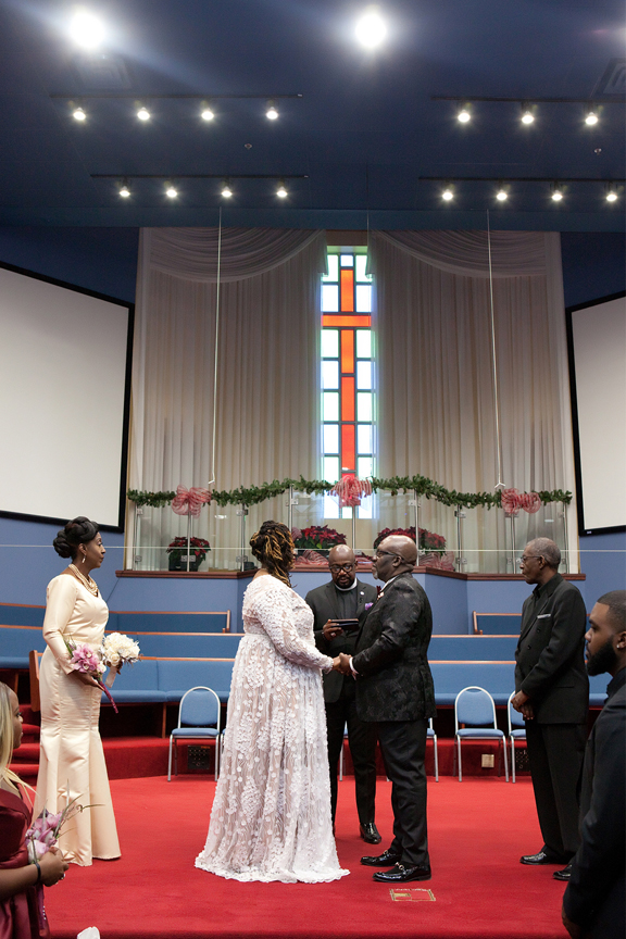 married couple wedding ceremony at Praise Cathedral Worship Centre