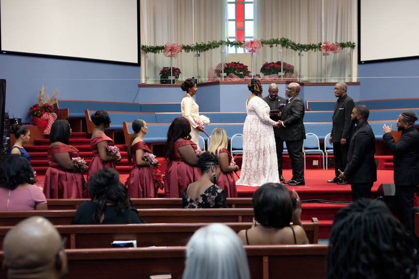 wedding ceremony at Praise Cathedral Worship Centre