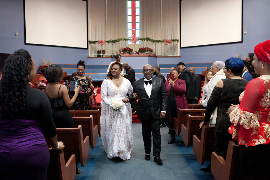 recession wedding ceremony at Praise Cathedral Worship Centre