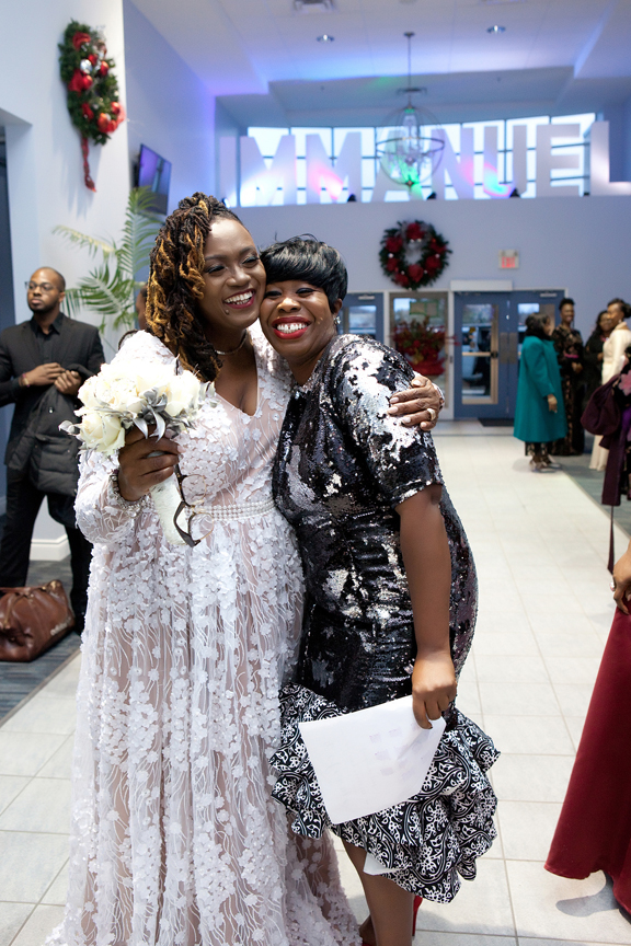 bride with friend Praise Cathedral Worship Centre