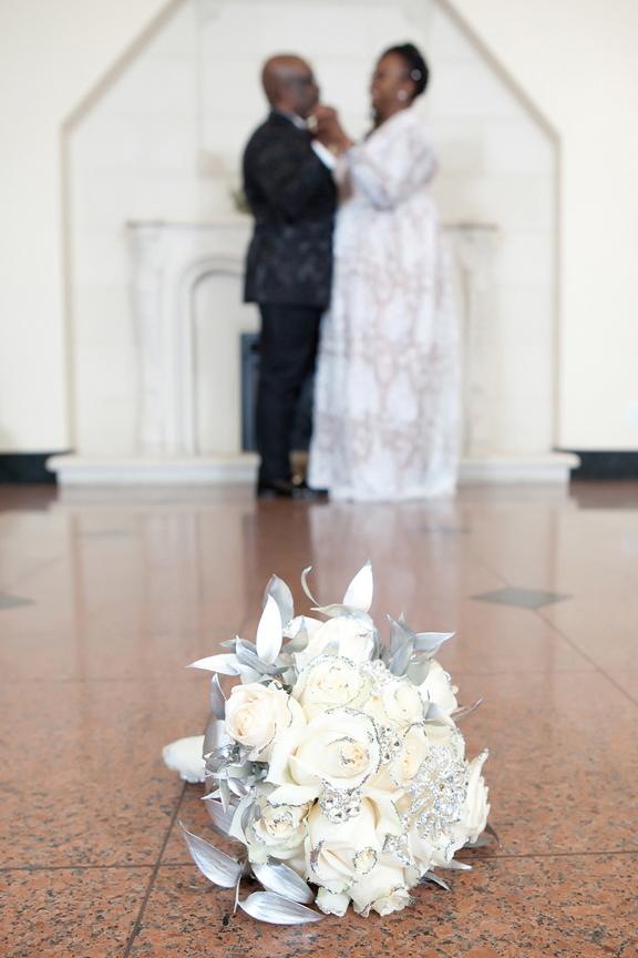 bridal bouquet at Claireport Place