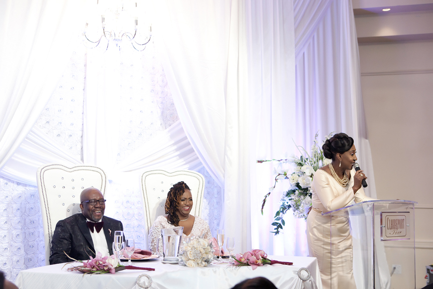 maid of honour speech wedding reception at Claireport Place