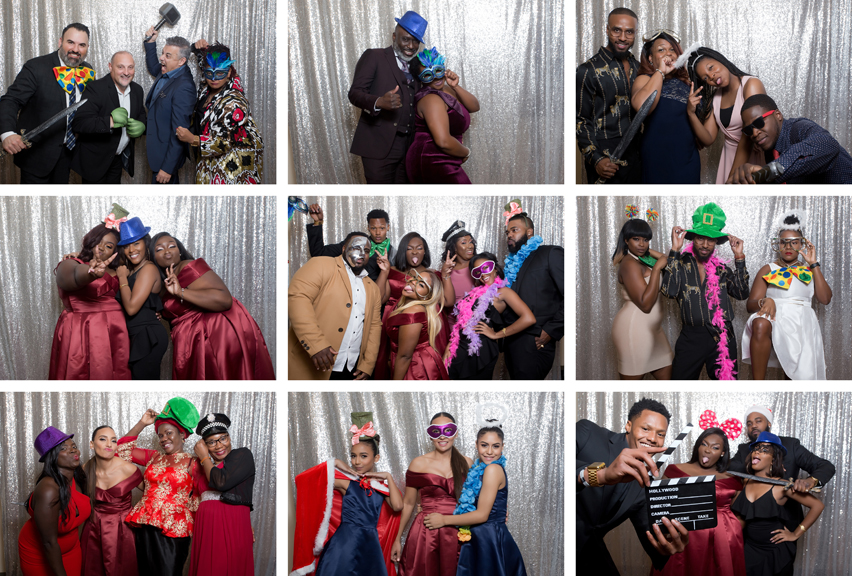 photo booth wedding reception at Claireport Place