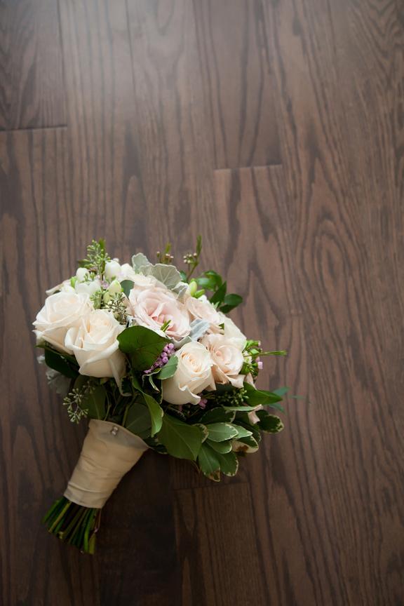 bride prep bridal bouquet