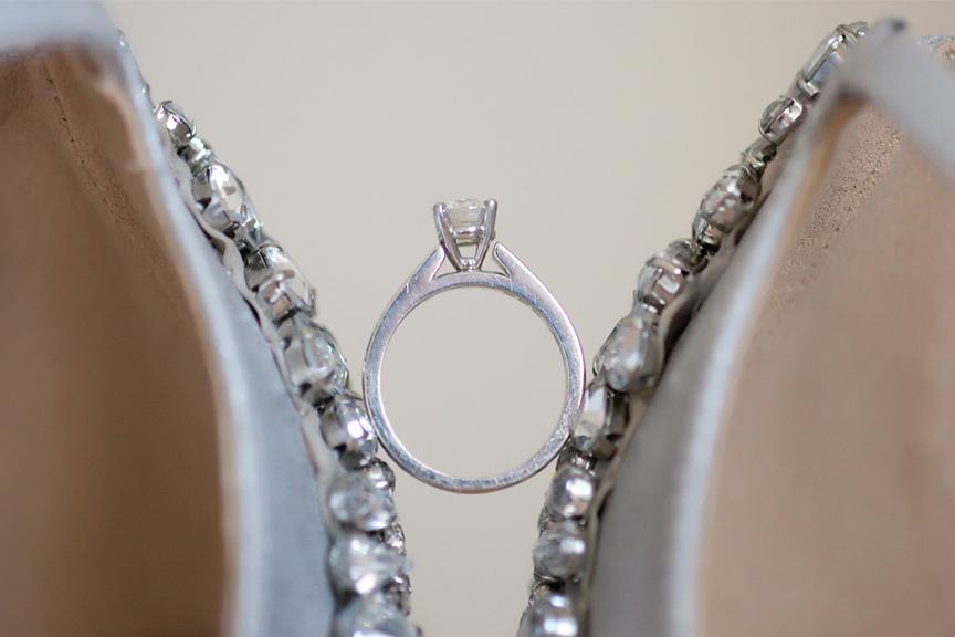 bride prep wedding ring