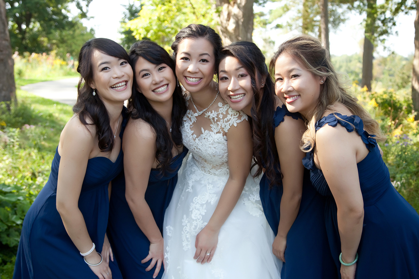 bridesmaids at Ascott Parc.