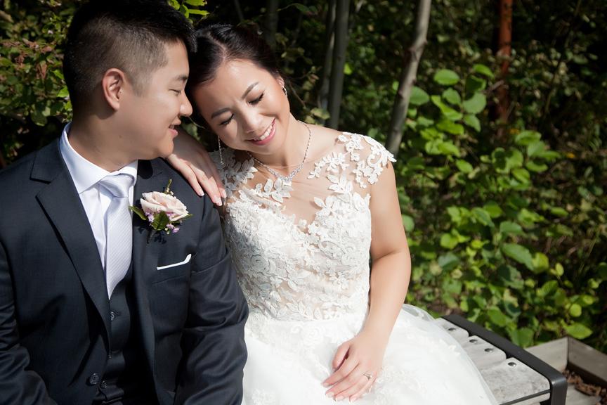 happy bride Ascott Parc.