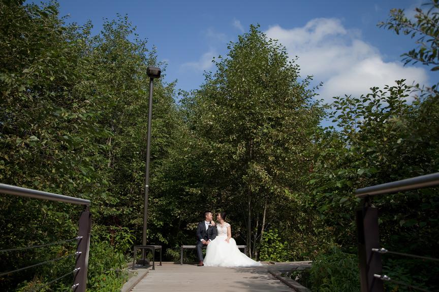 wedding couple at Ascott Parc.