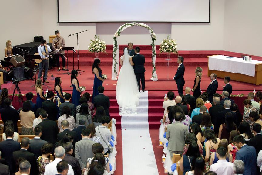 wedding ceremony at Toronto Christian Community Church