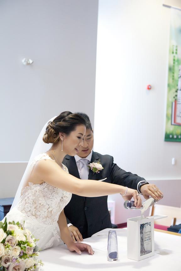 sand ceremony wedding ceremony at Toronto Christian Community Church