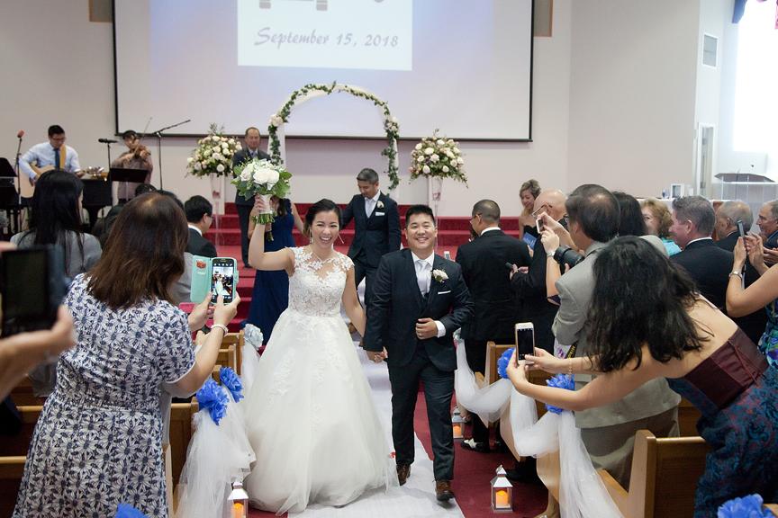 recession wedding ceremony at Toronto Christian Community Church