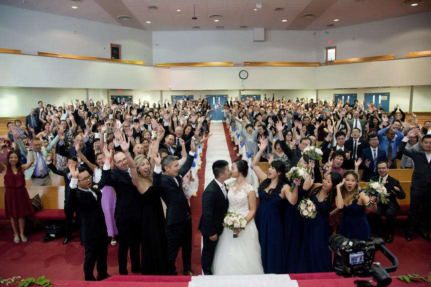 first kiss wedding ceremony at Toronto Christian Community Church