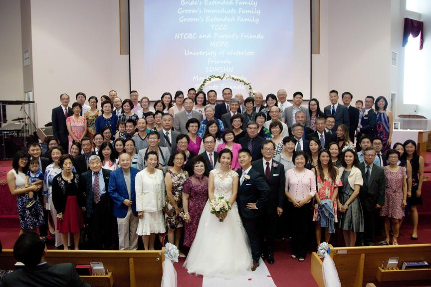 family photo wedding ceremony at Toronto Christian Community Church