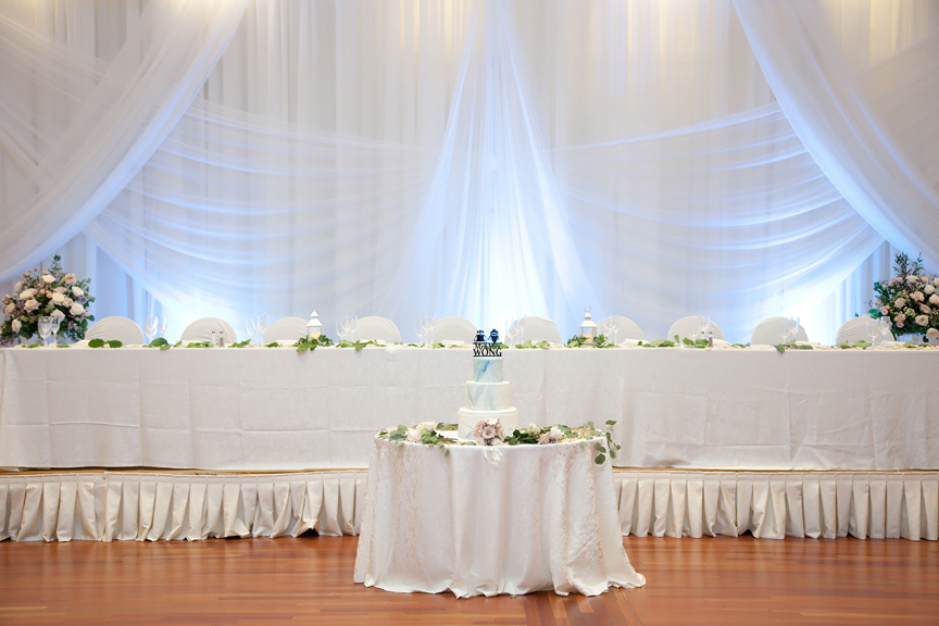reception decor Chinese wedding at Ascott Parc