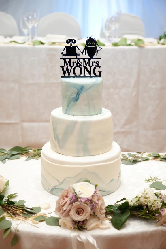 cake decor Chinese wedding at Ascott Parc