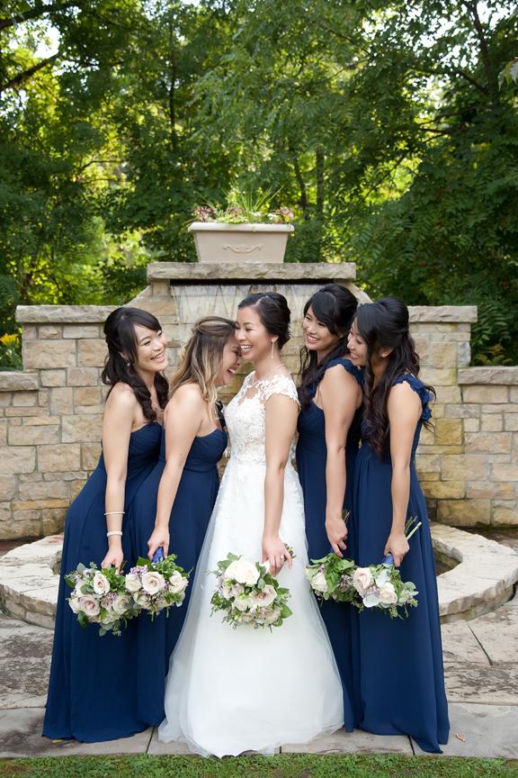 bridesmaids Chinese wedding at Ascott Parc