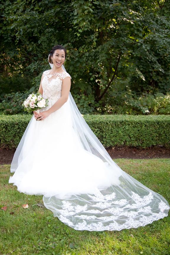 bride portrait Chinese wedding at Ascott Parc