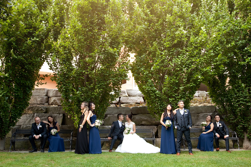 Bridal party Chinese wedding at Ascott Parc