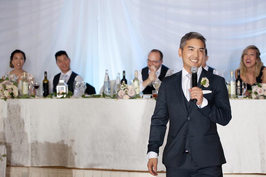 best man speech Chinese wedding reception at Ascott Parc