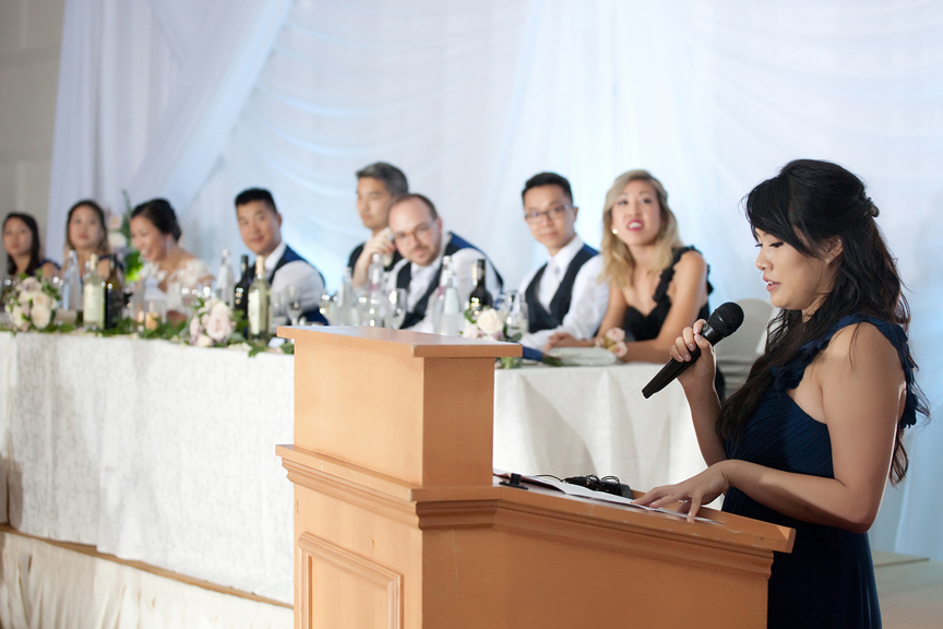 maid of honour speech Chinese wedding reception at Ascott Parc