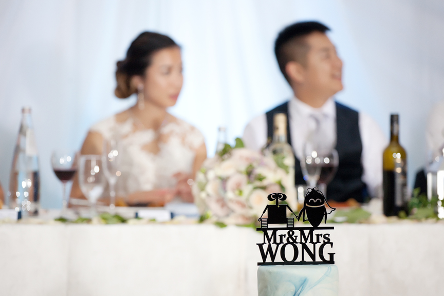 cake topper Chinese wedding reception at Ascott Parc