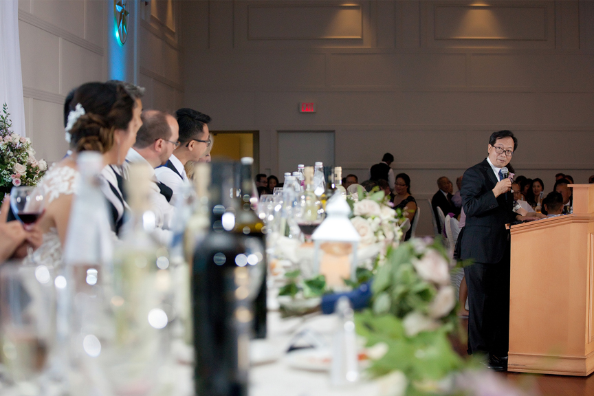 father speech Chinese wedding reception at Ascott Parc
