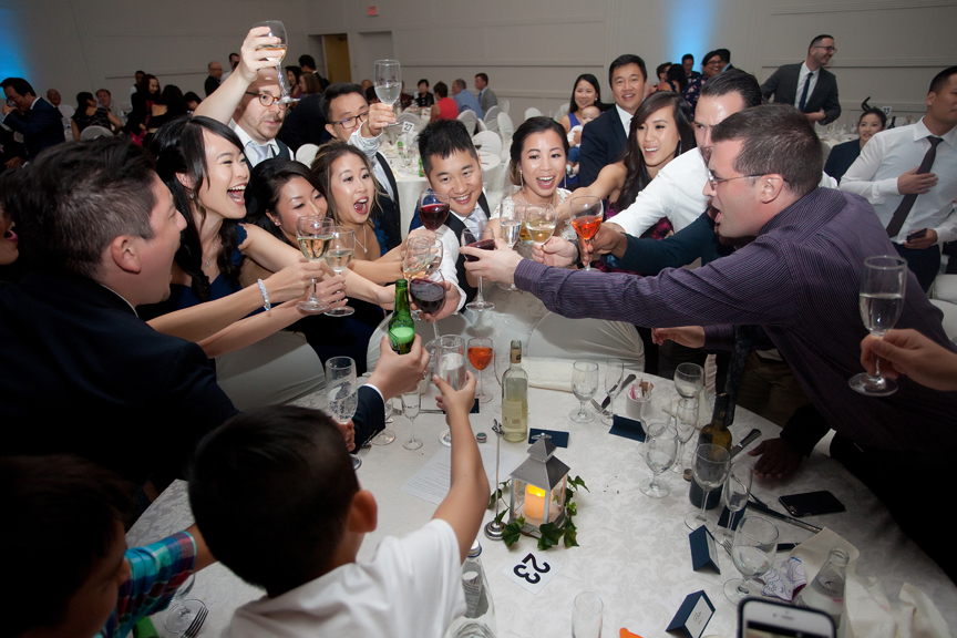 table toasts Chinese wedding reception at Ascott Parc