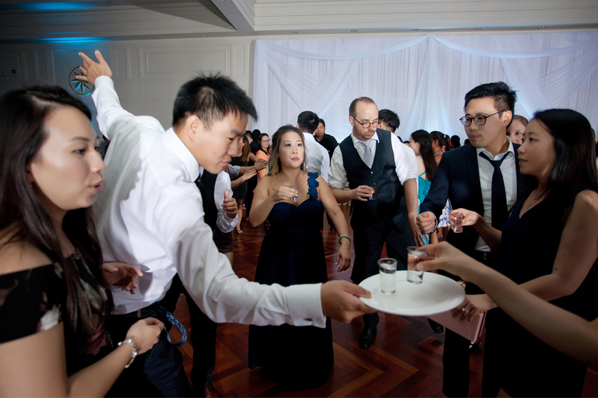 dance party Chinese wedding reception at Ascott Parc