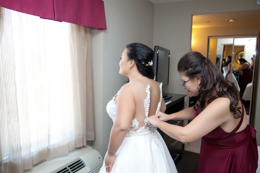 bride prep wedding getting dressed