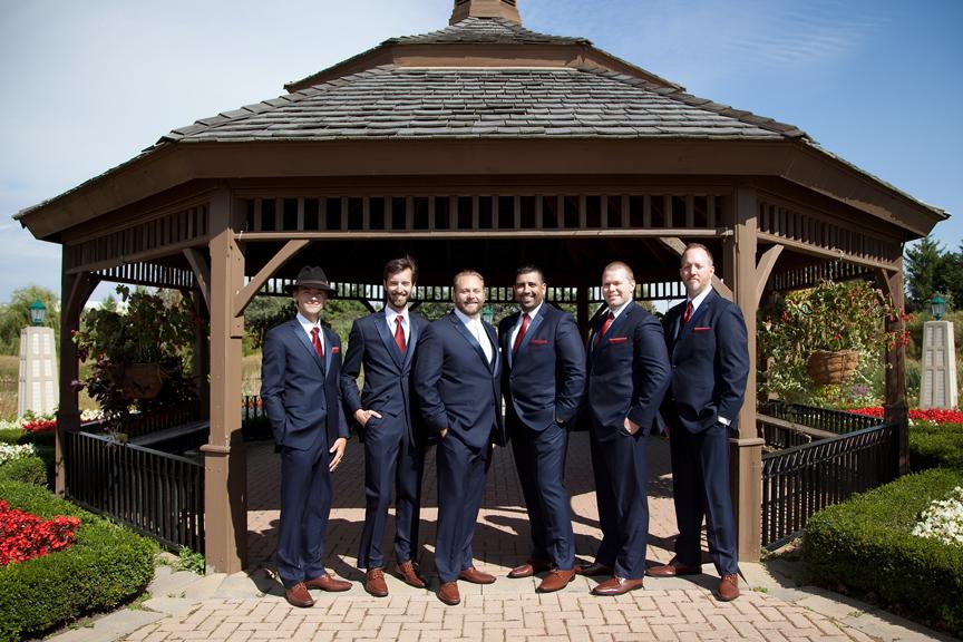 groomsmen wedding portrait at Richmond Green