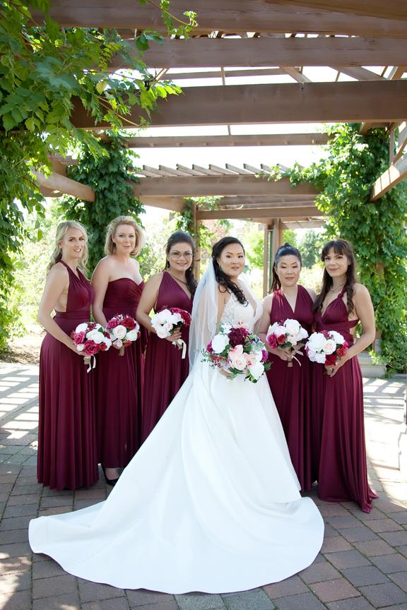 bridesmaids wedding portrait at Richmond Green