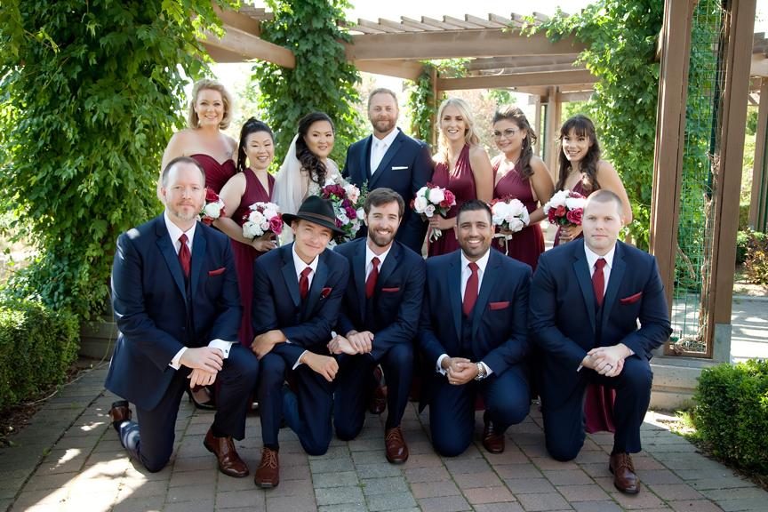 bridal party wedding portrait at Richmond Green