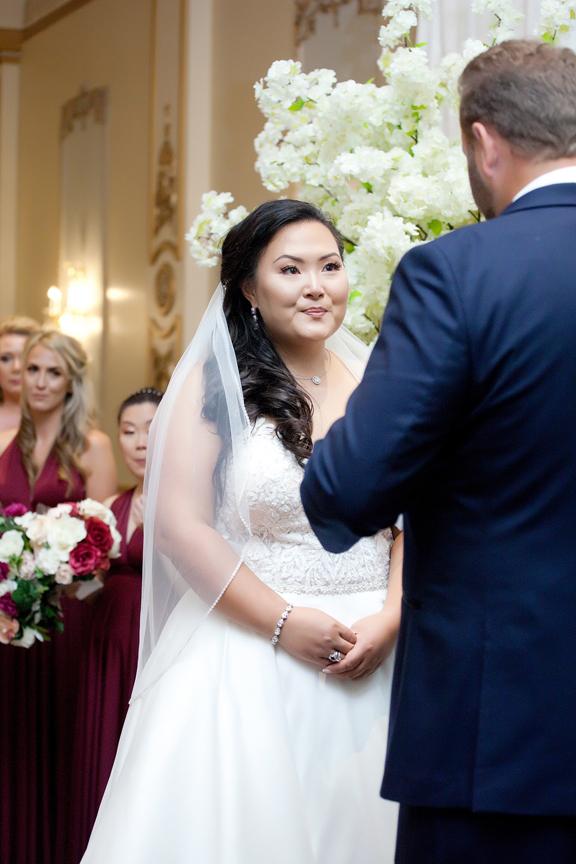 bride wedding ceremony at Venetian Banquet Hall