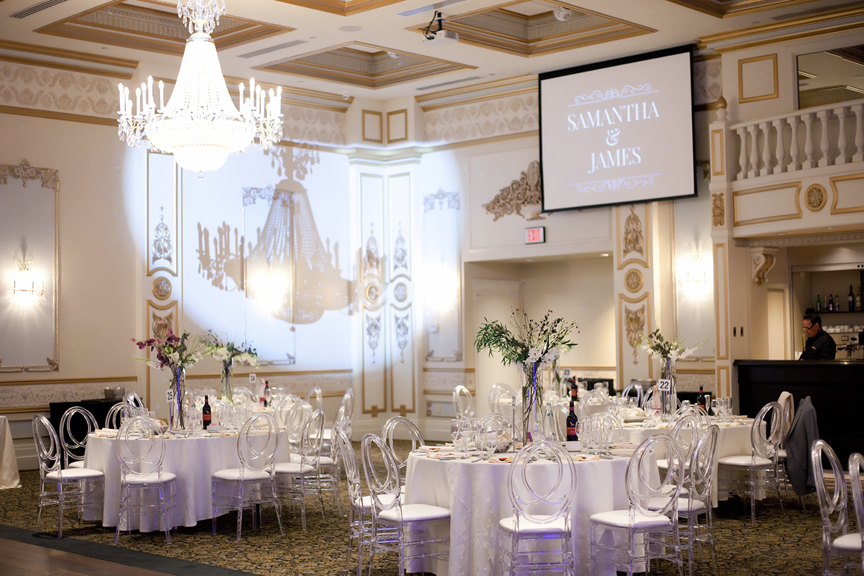 hall decor wedding reception at Venetian Banquet Hall