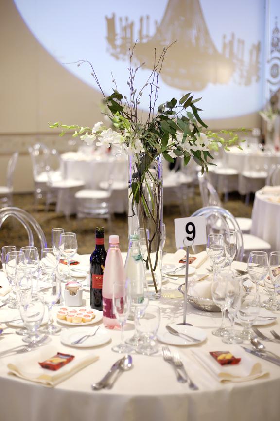 table decor wedding reception at Venetian Banquet Hall