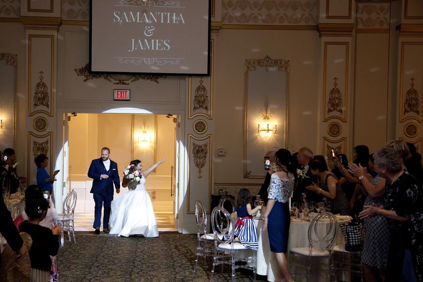 grand entrance wedding reception at Venetian Banquet Hall