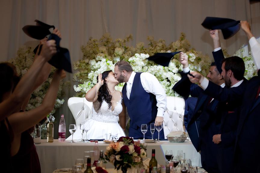 kissing game wedding reception at Venetian Banquet Hall