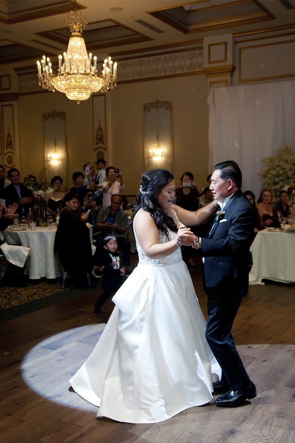 father daughter dance wedding reception at Venetian Banquet Hall