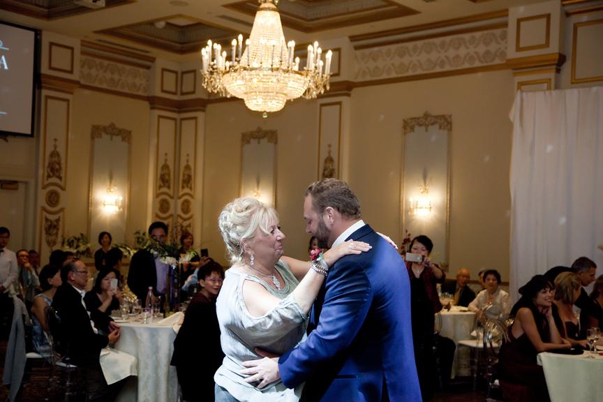 mother son dance wedding reception at Venetian Banquet Hall