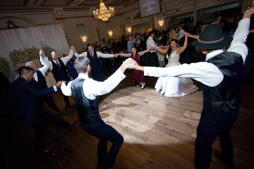 dance party wedding reception at Venetian Banquet Hall