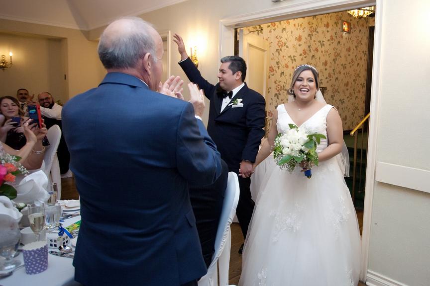 couple's grand entrance wedding reception