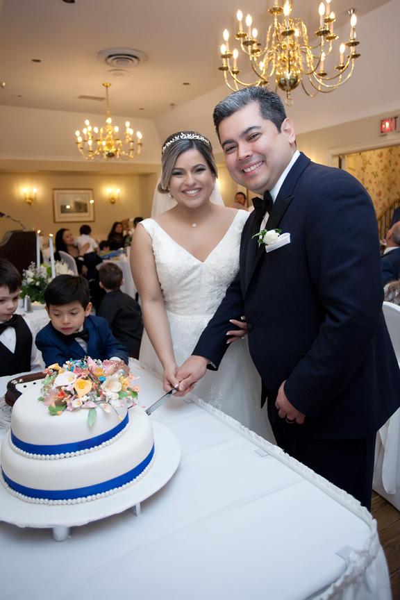 cake cutting wedding reception at Old Mill Toronto
